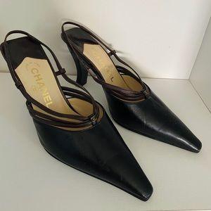 Chanel pumps / heels sling back